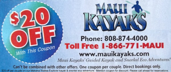 Discount coupons on kayaks