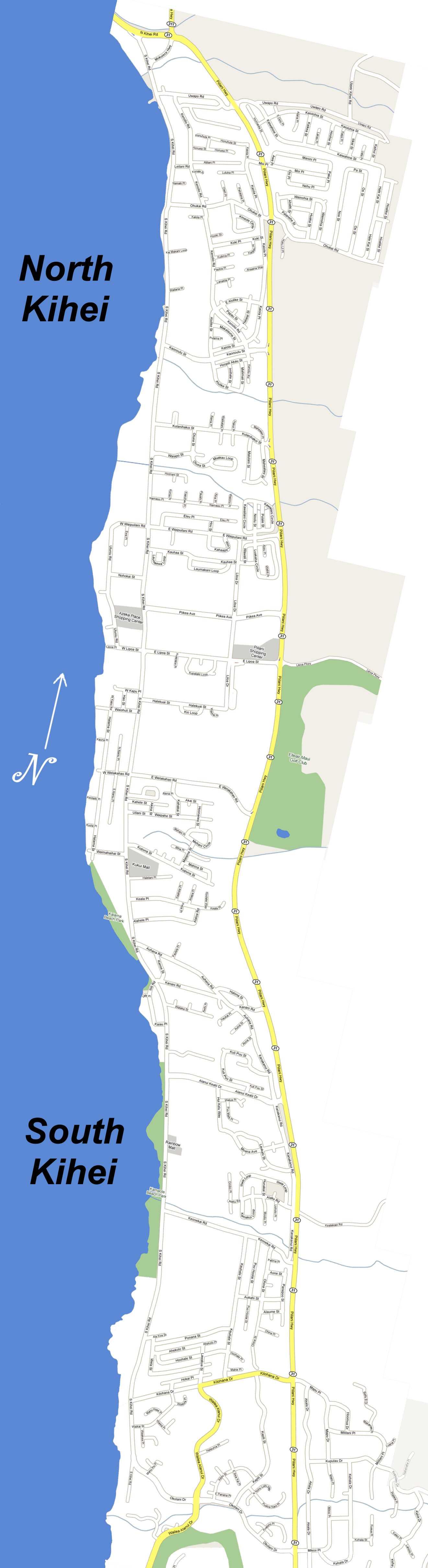 Kihei Maui Map Map of Kihei Hawaii