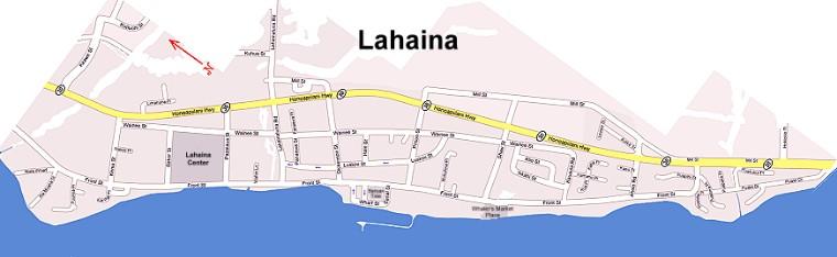 Lahaina Maui Map  Map Of Lahaina