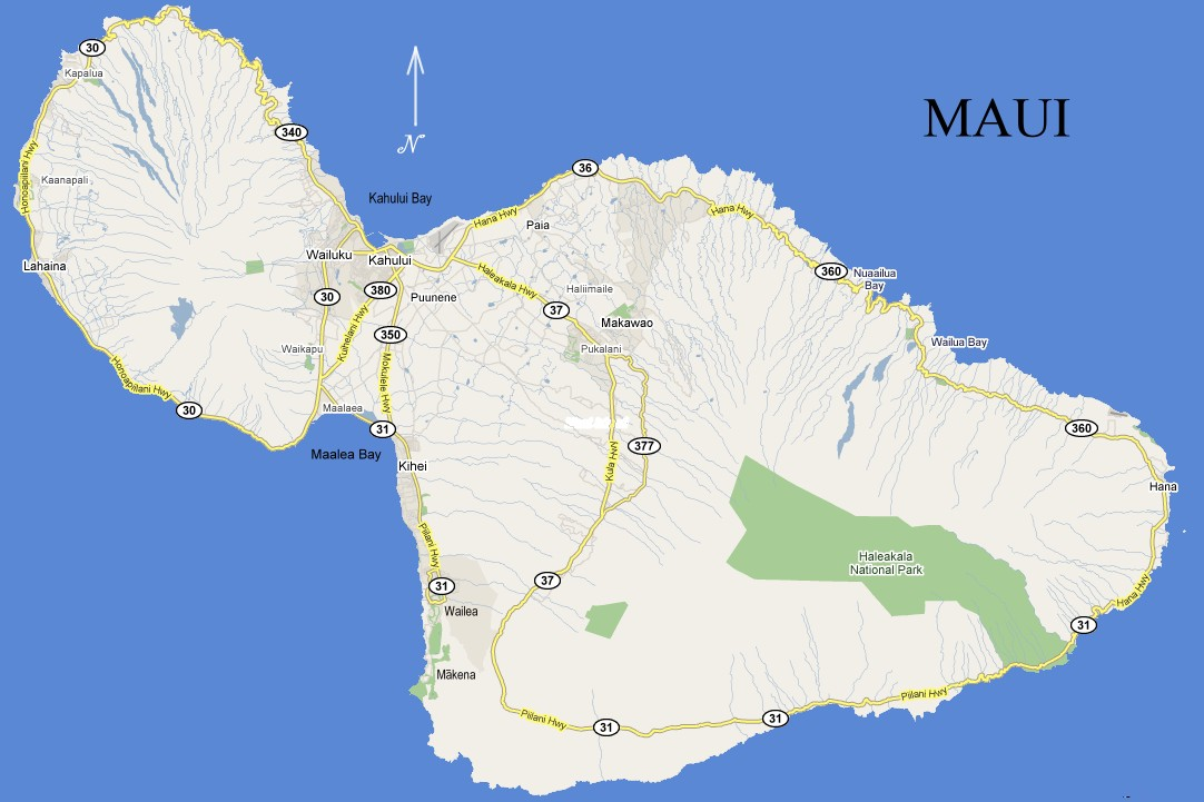 Map Of Maui Pictures to Pin on Pinterest - PinsDaddy Wailuku Beach